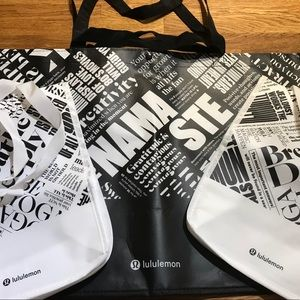 Lululemon 3 Reusable Shoppers!